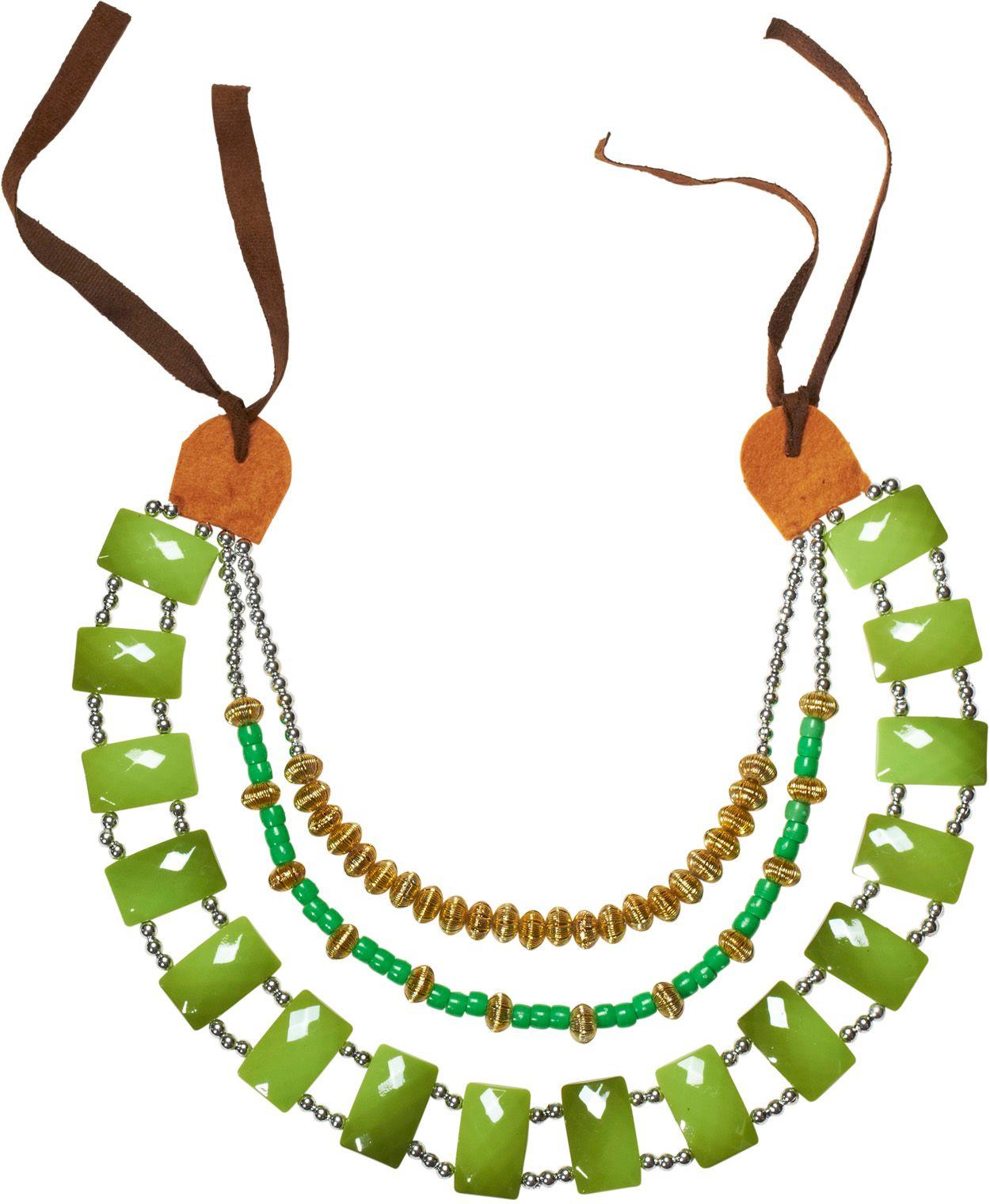 Groene afrikaanse stammen ketting