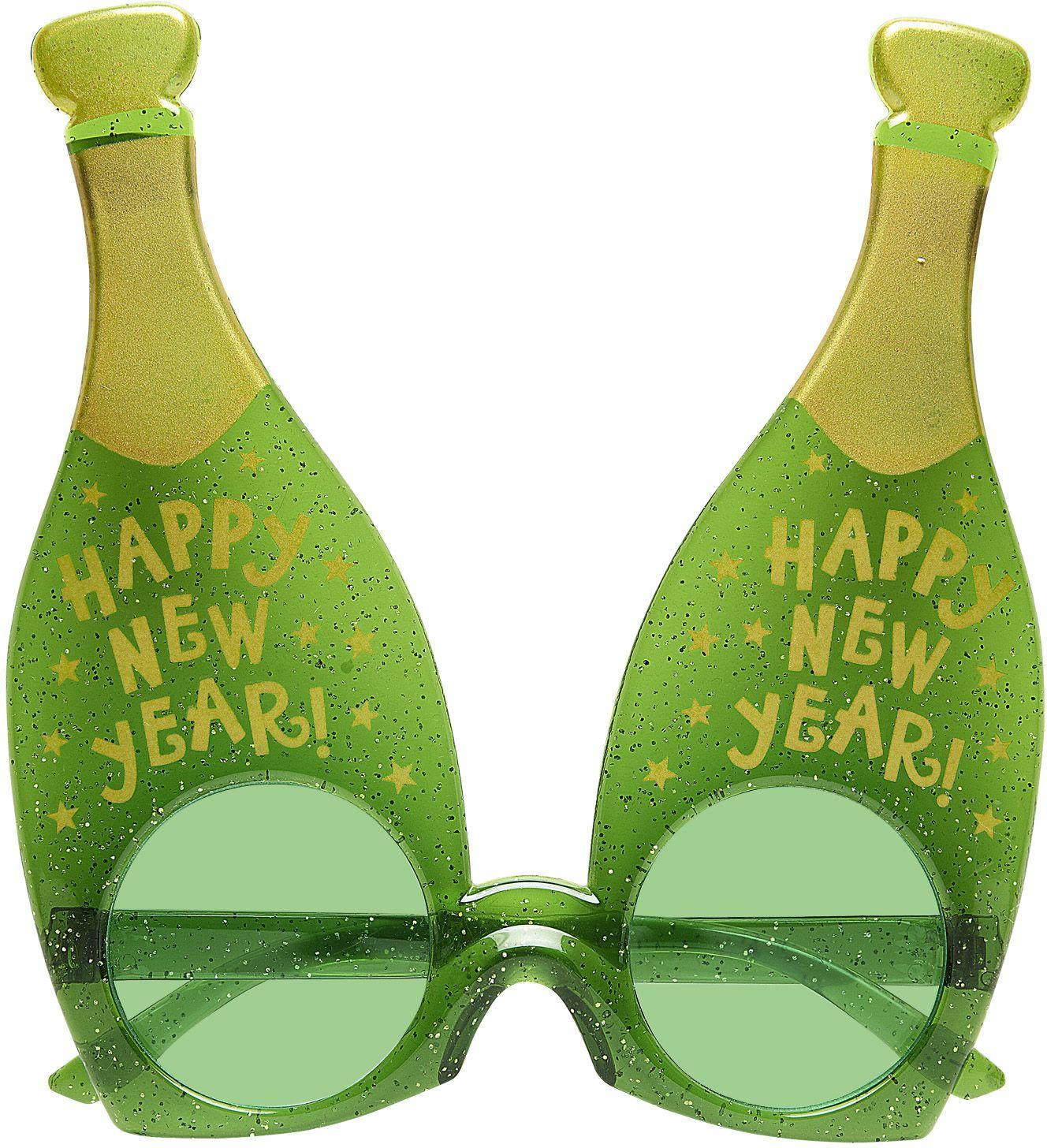 Groene champagne bril