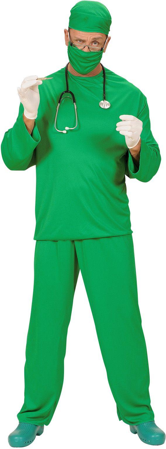 Groene chirurg kostuum man