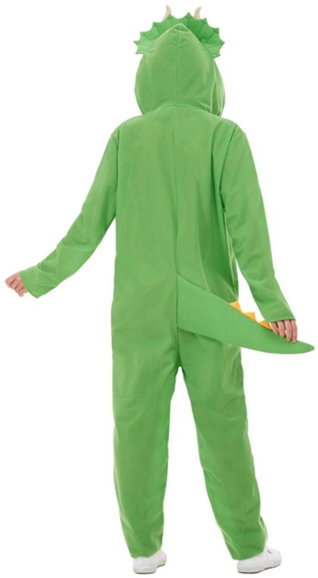 Groene dinosaurus onesie