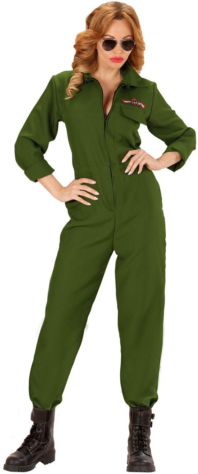 Groene gevechtspiloot vrouw