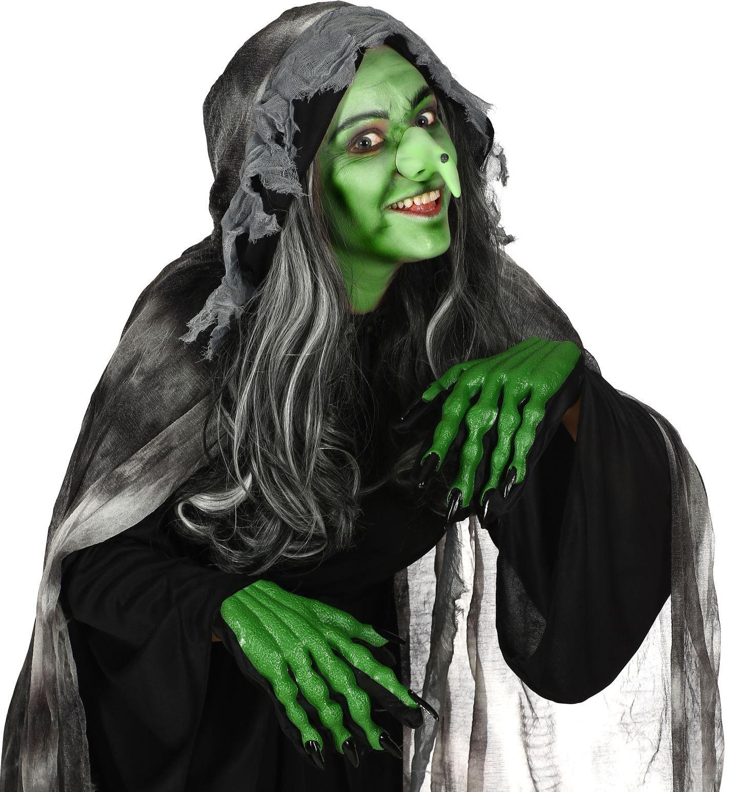 Groene heks handschoenen