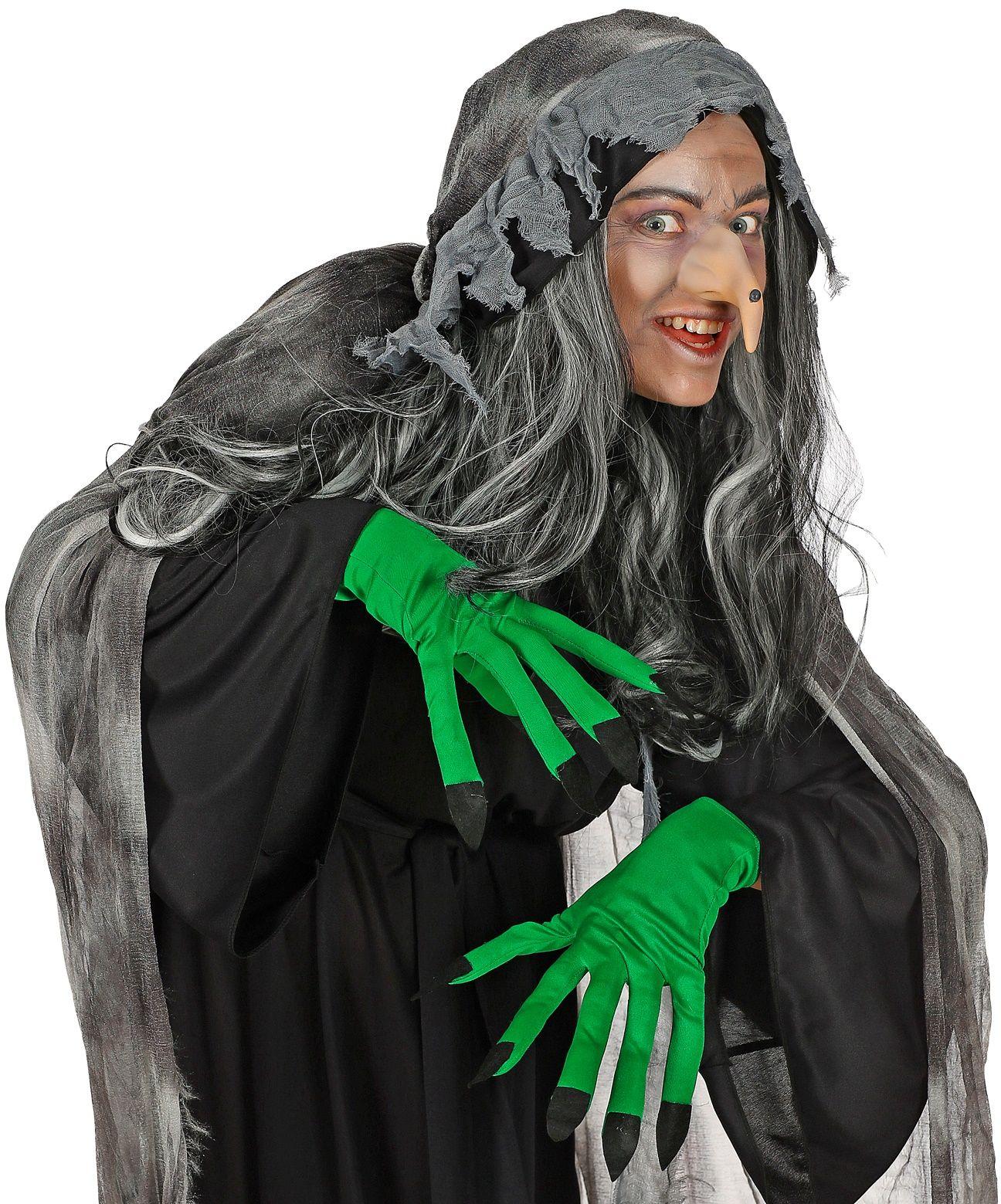 Groene heksen handschoenen