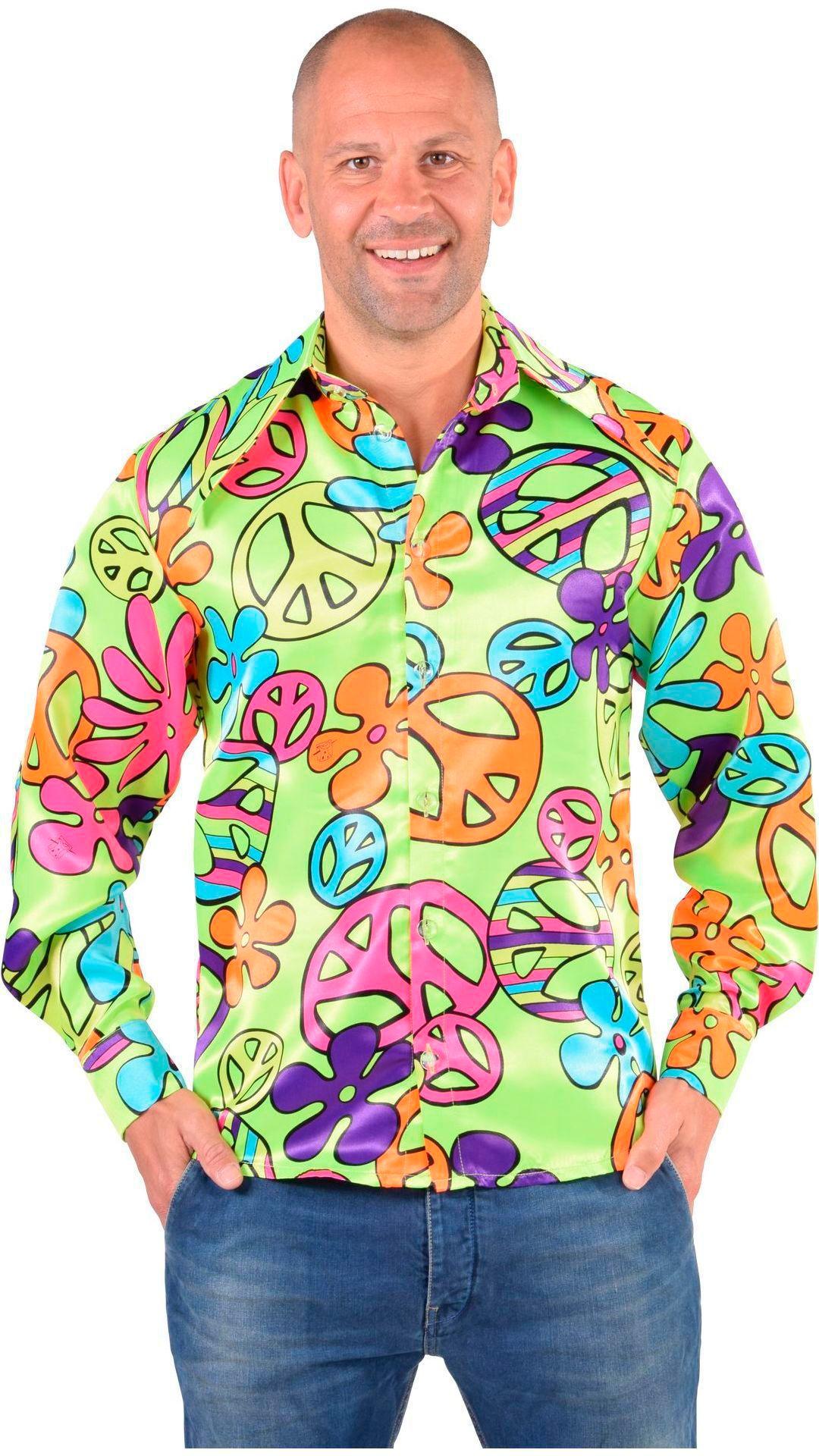 Groene hippie blouse heren