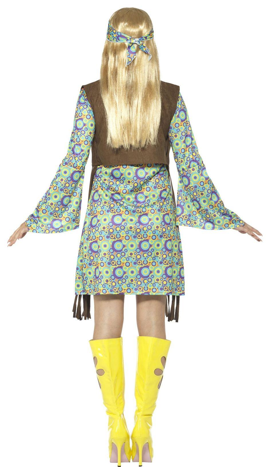 Groene hippie jurk