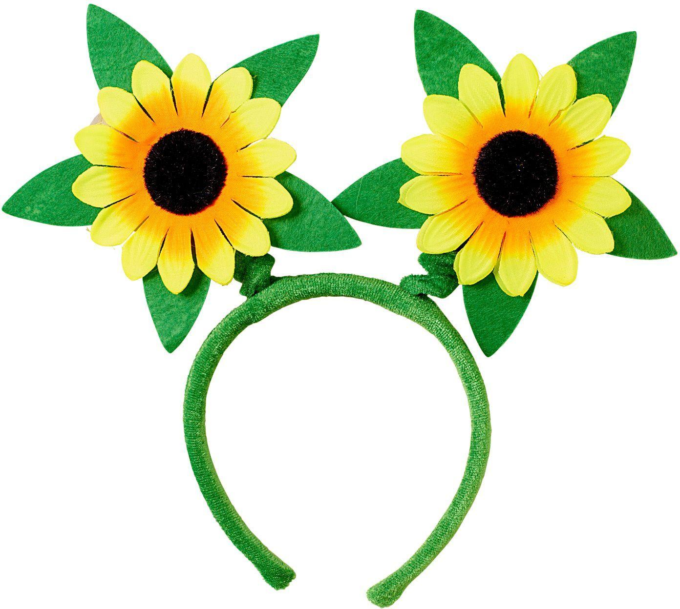 Groene hoofdband met bloemen