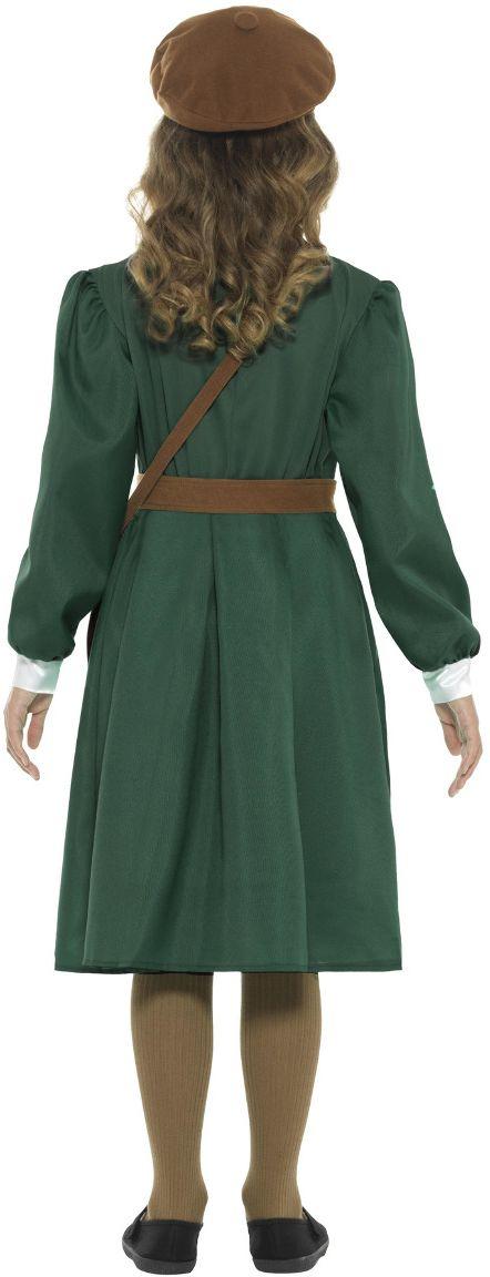Groene jaren 40 WO II jurk meisjes