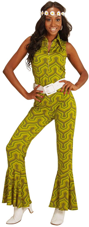 Groene jaren 70 jumpsuit
