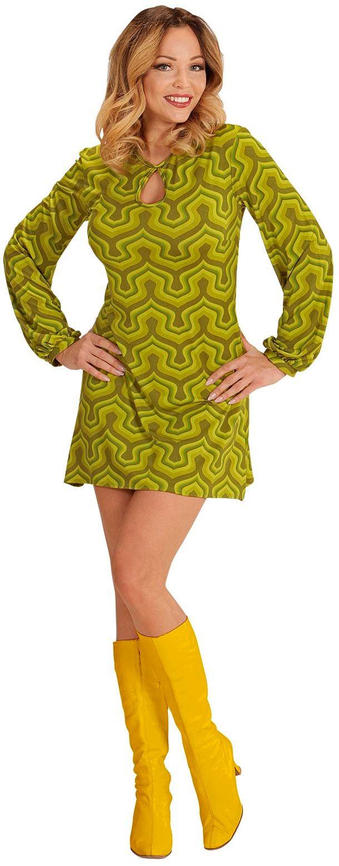Groene jaren 70 jurk