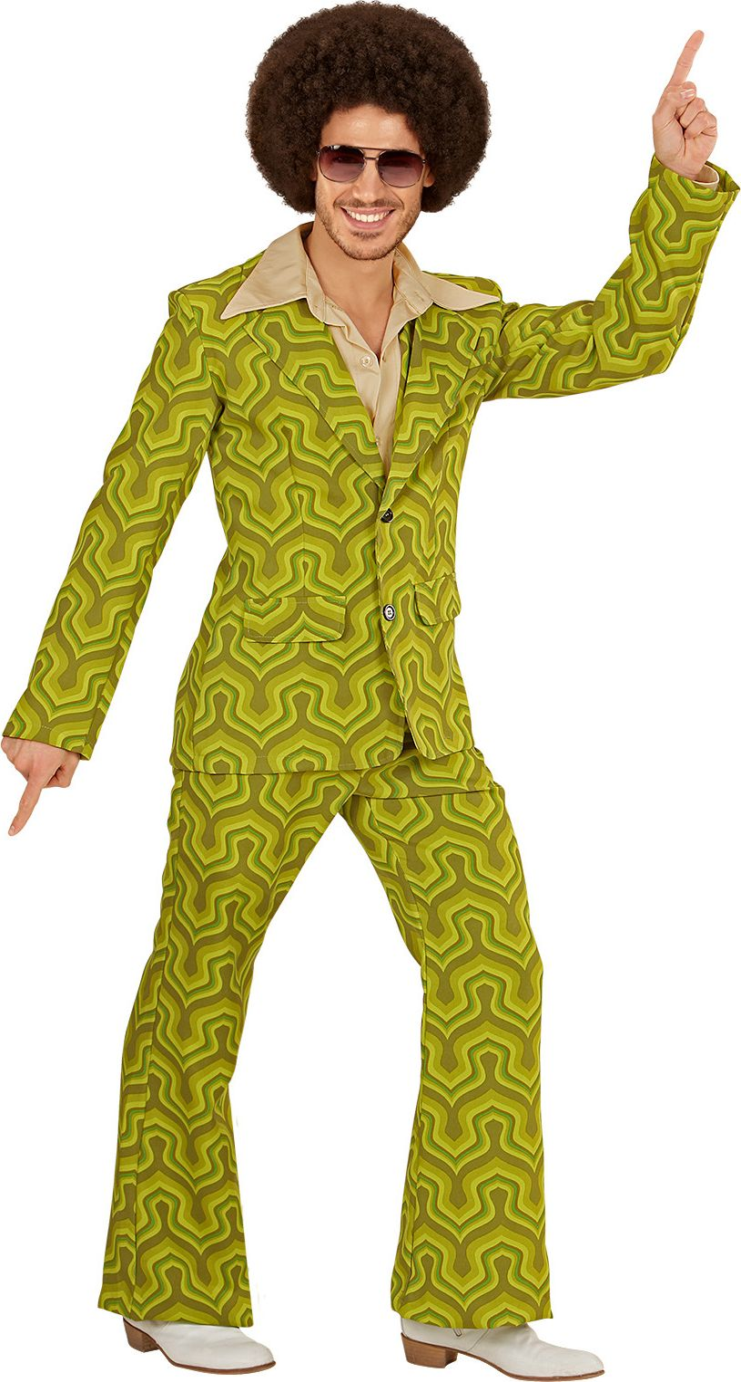 Groene jaren 70 outfit