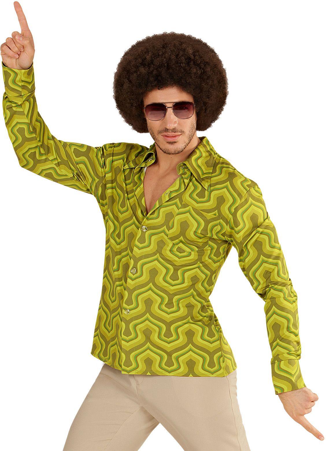 Groene jaren 70 shirt