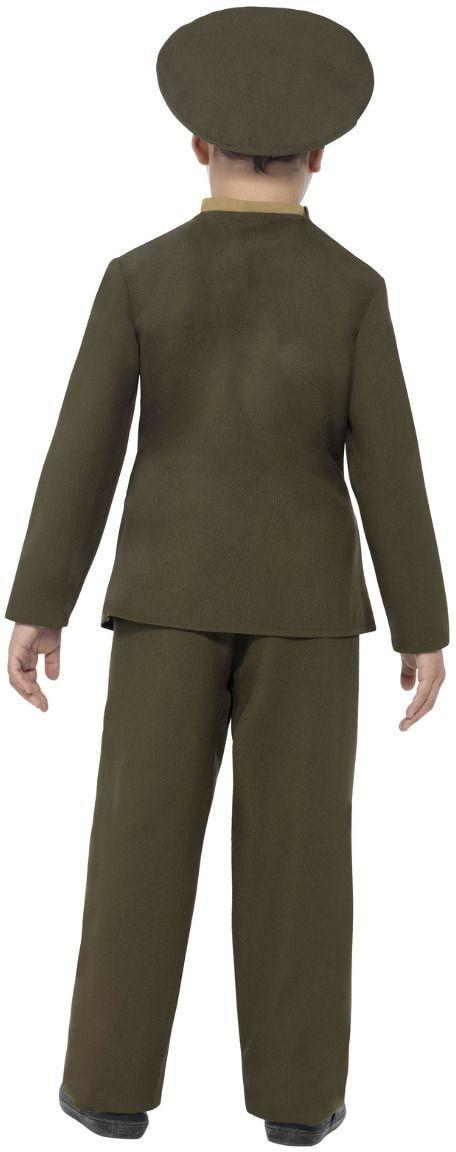 Groene jongens officier kostuum