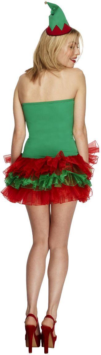 Groene kerstelf jurkje