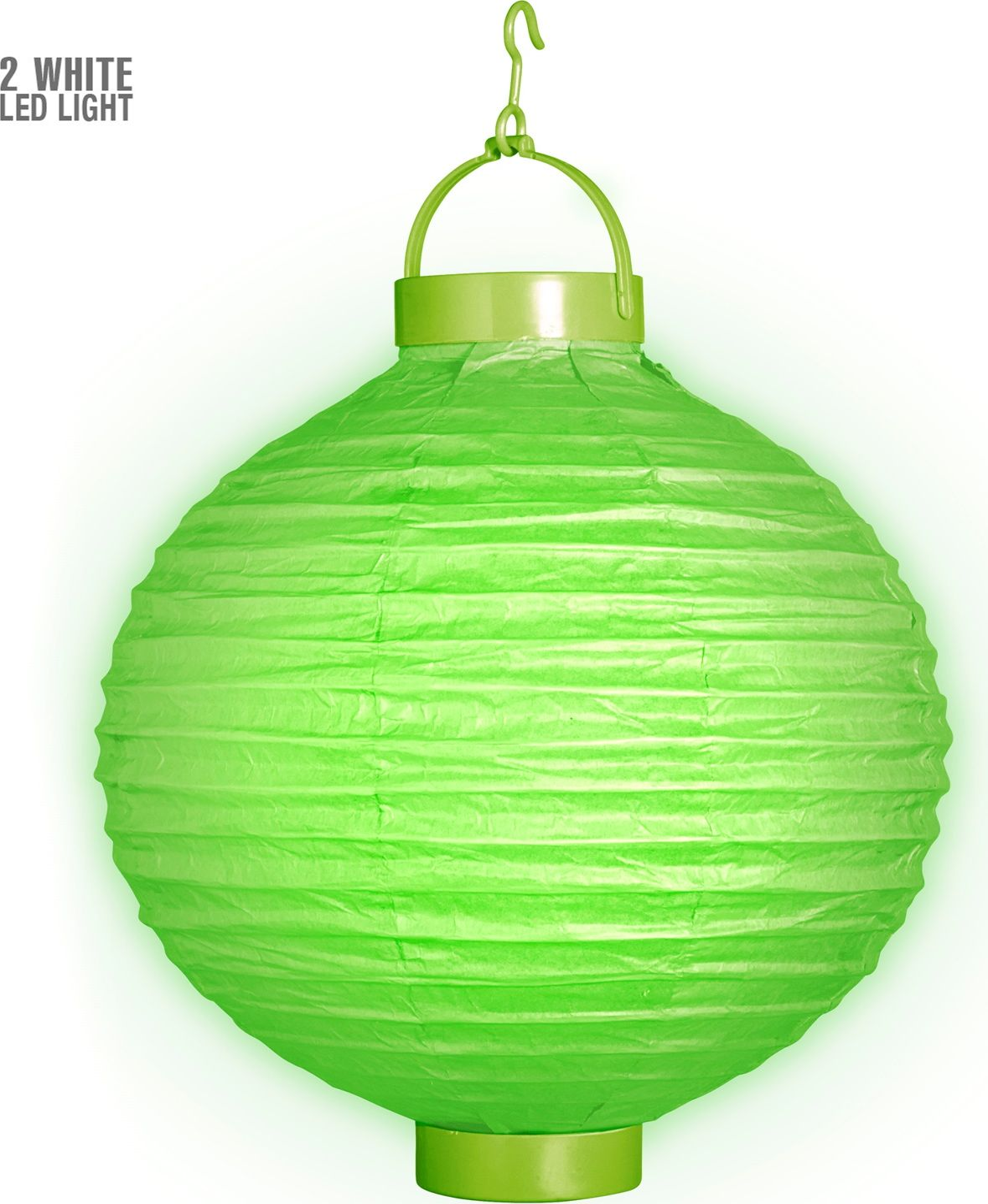 Groene lantaarn met 2 witte LED lichten
