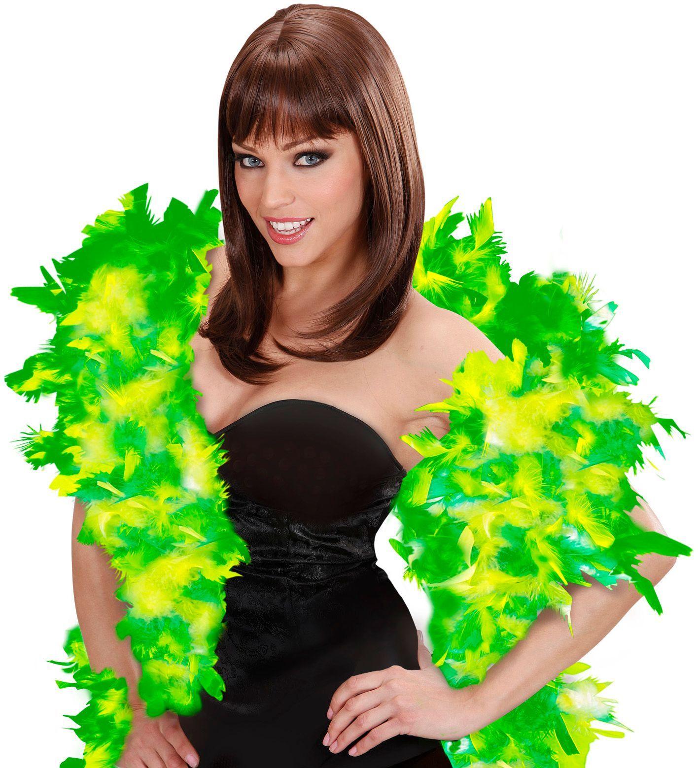 Groene-lichtgroene luxe boa