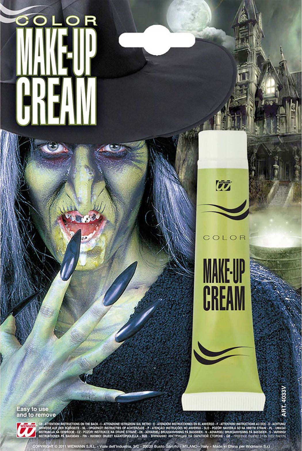 Groene make-up in tube