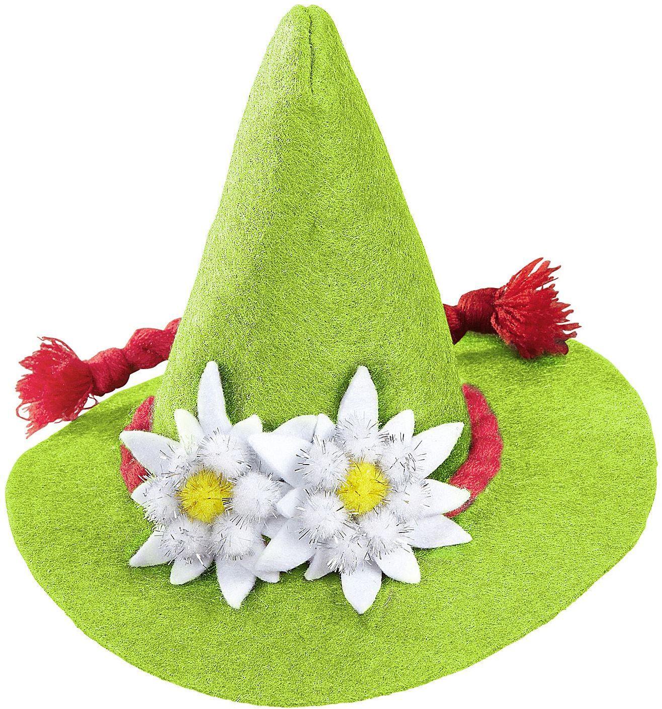 Groene mini oktoberfest hoed