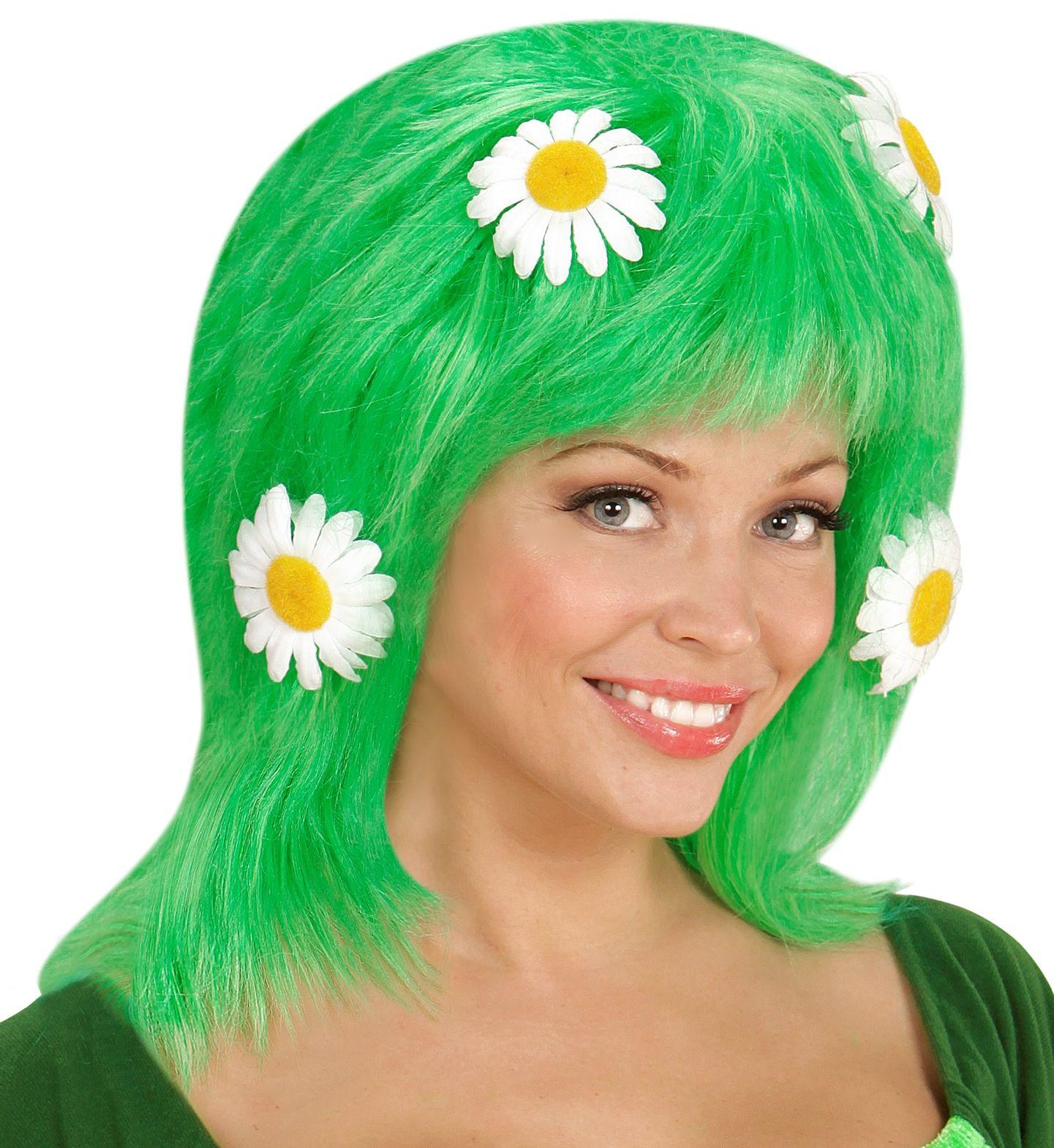 Groene moeder natuur pruik
