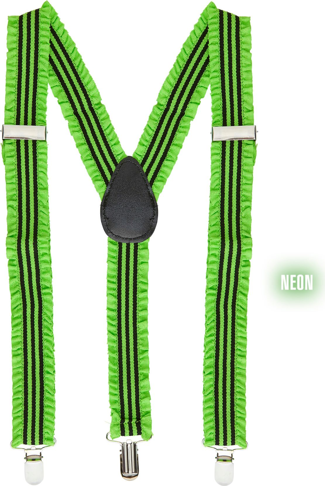 Groene neon bretels