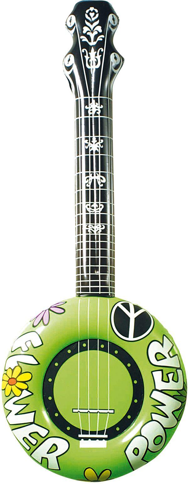 Groene opblaasbare banjo