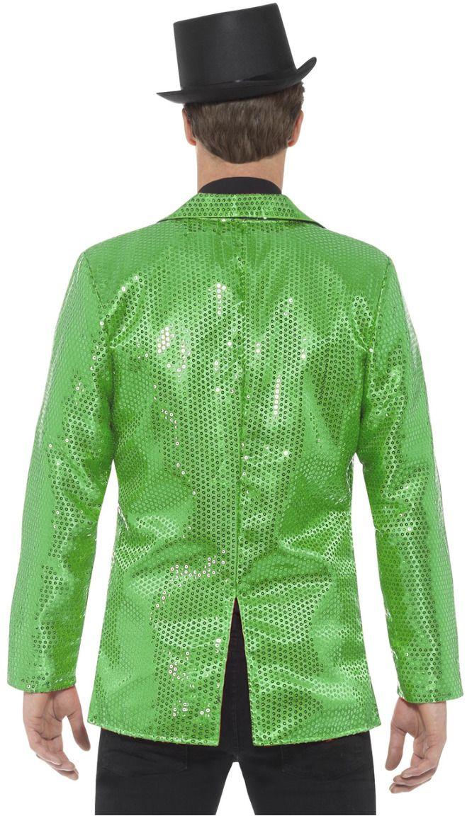 Groene pailletten jasje