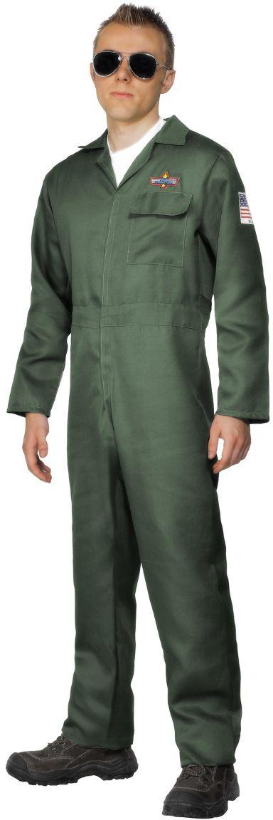 Groene piloten kostuum