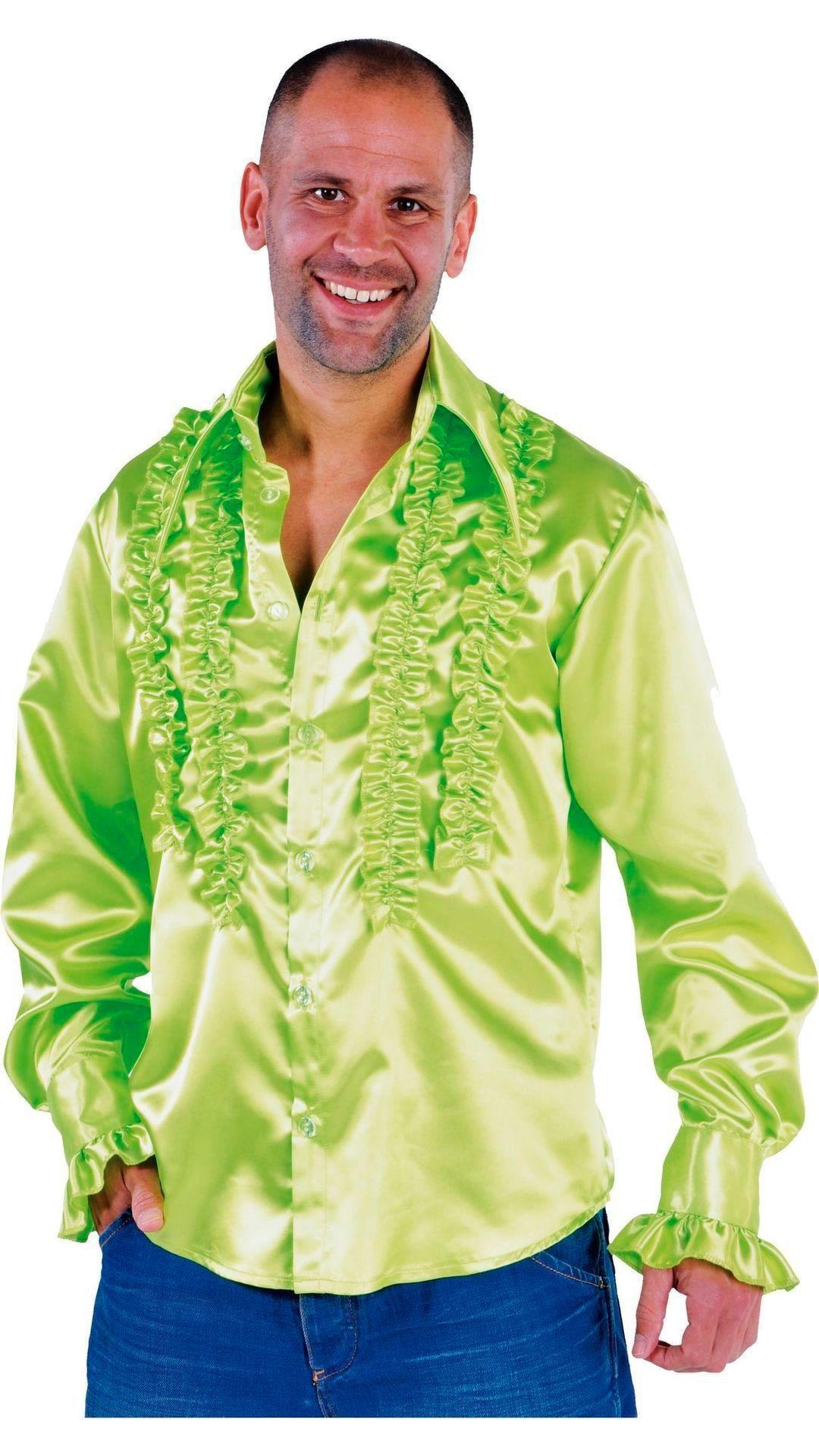 Groene rouches blouse heren