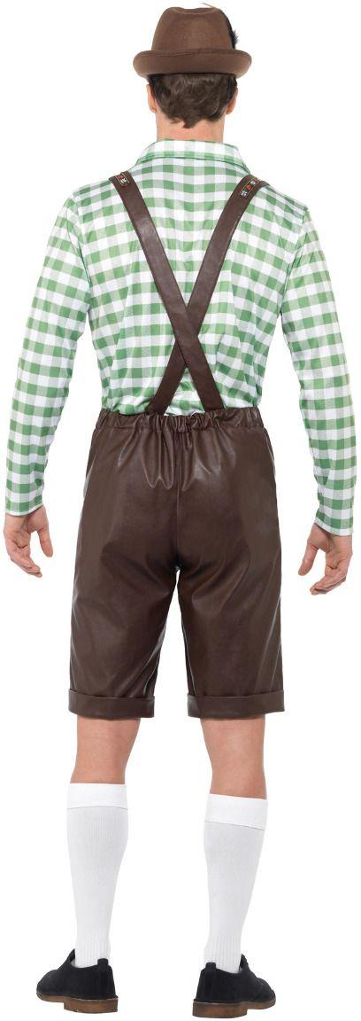 Groene tiroler lederhose heren