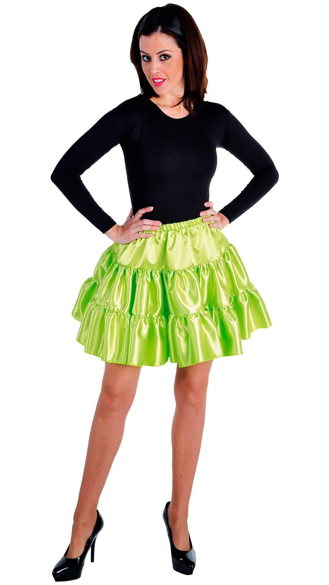 Groene volangen rok vrouwen kort