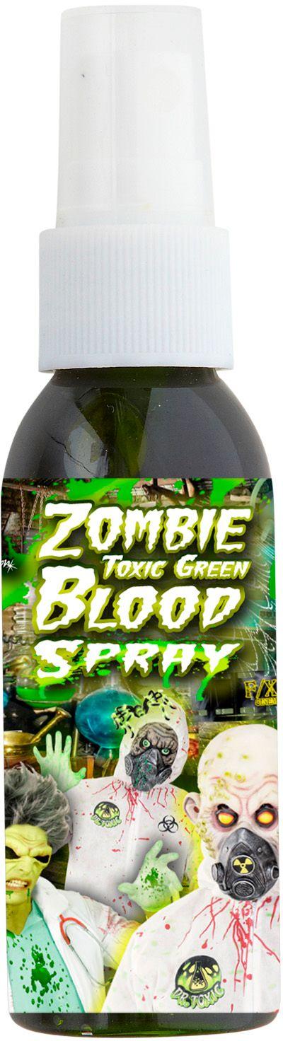 Groene zombie bloed spray