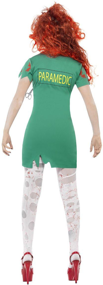 Groene zombie verpleegster jurkje