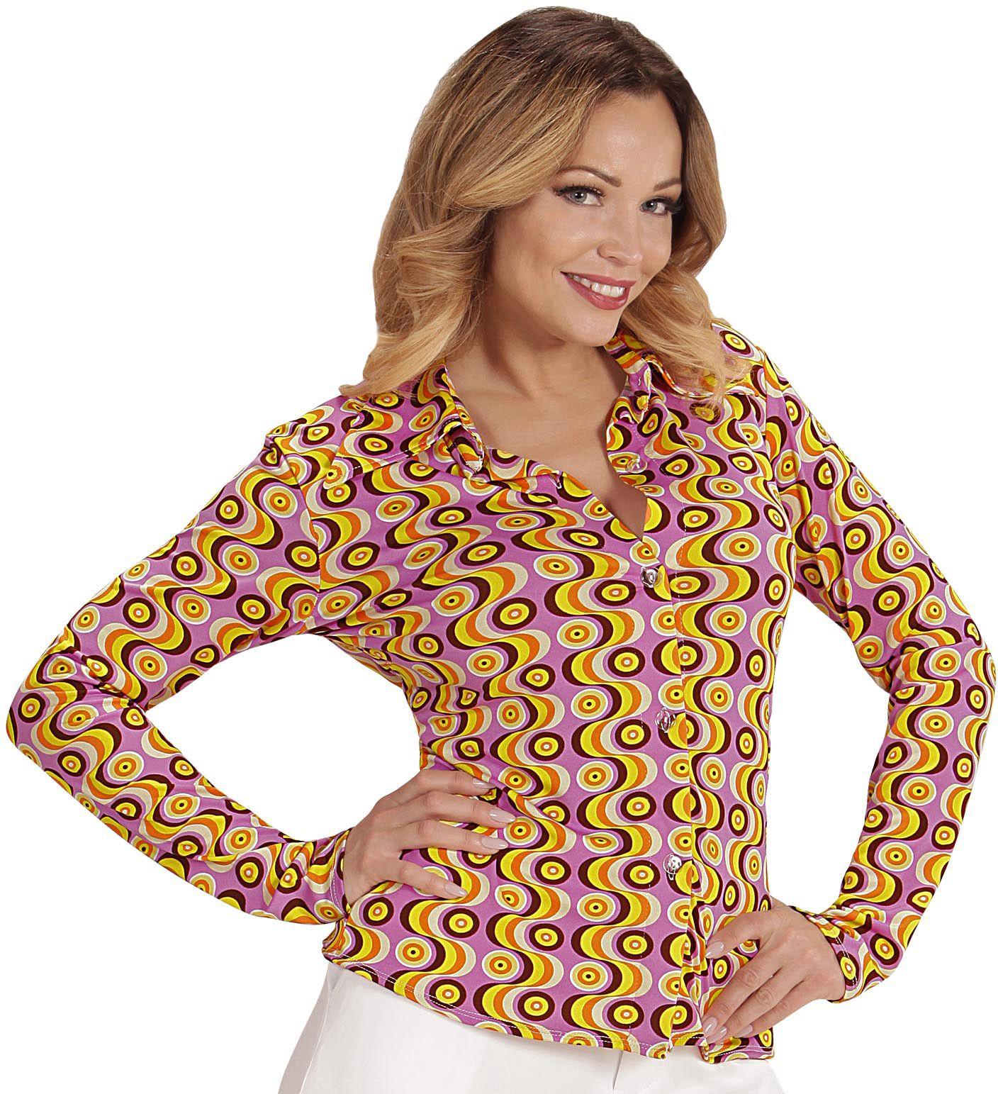 Groovy 70s dames shirt