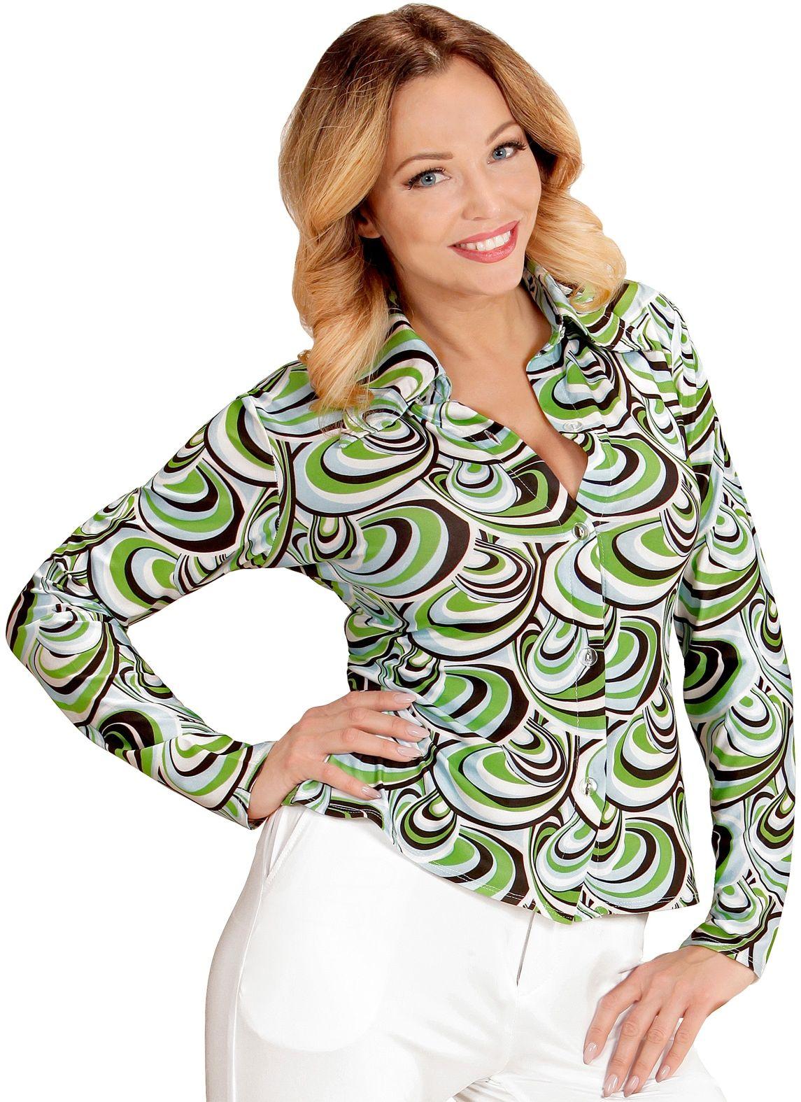 Groovy 70s shirt dames