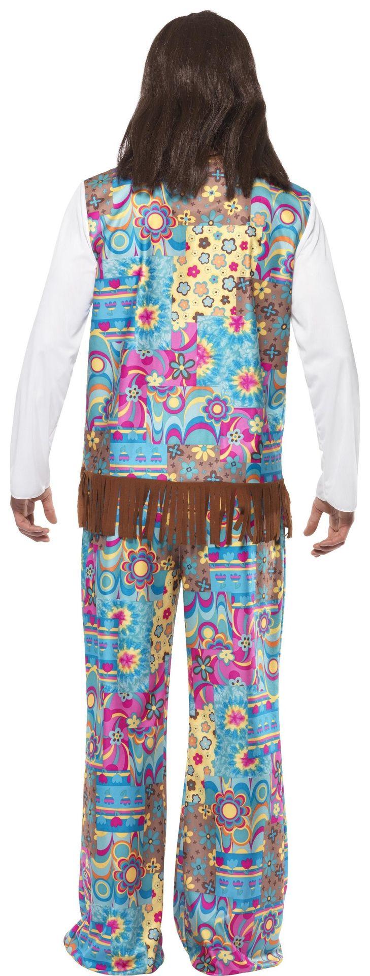 Groovy hippie heren kostuum