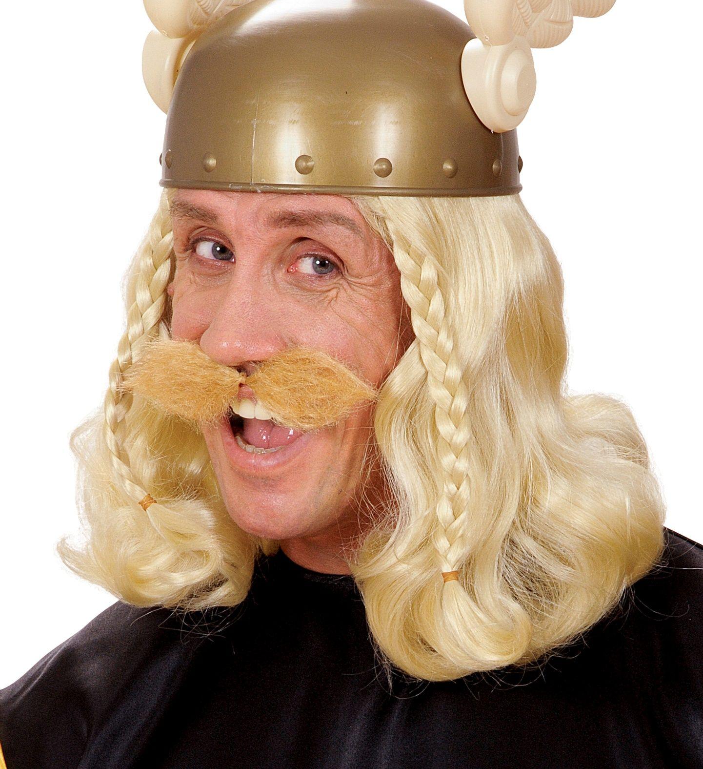 Grote blonde viking snor