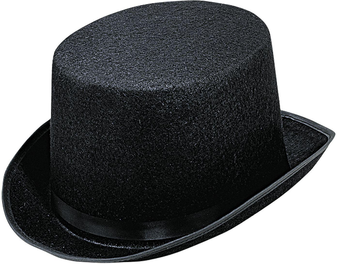 Grote zwarte hoge hoed