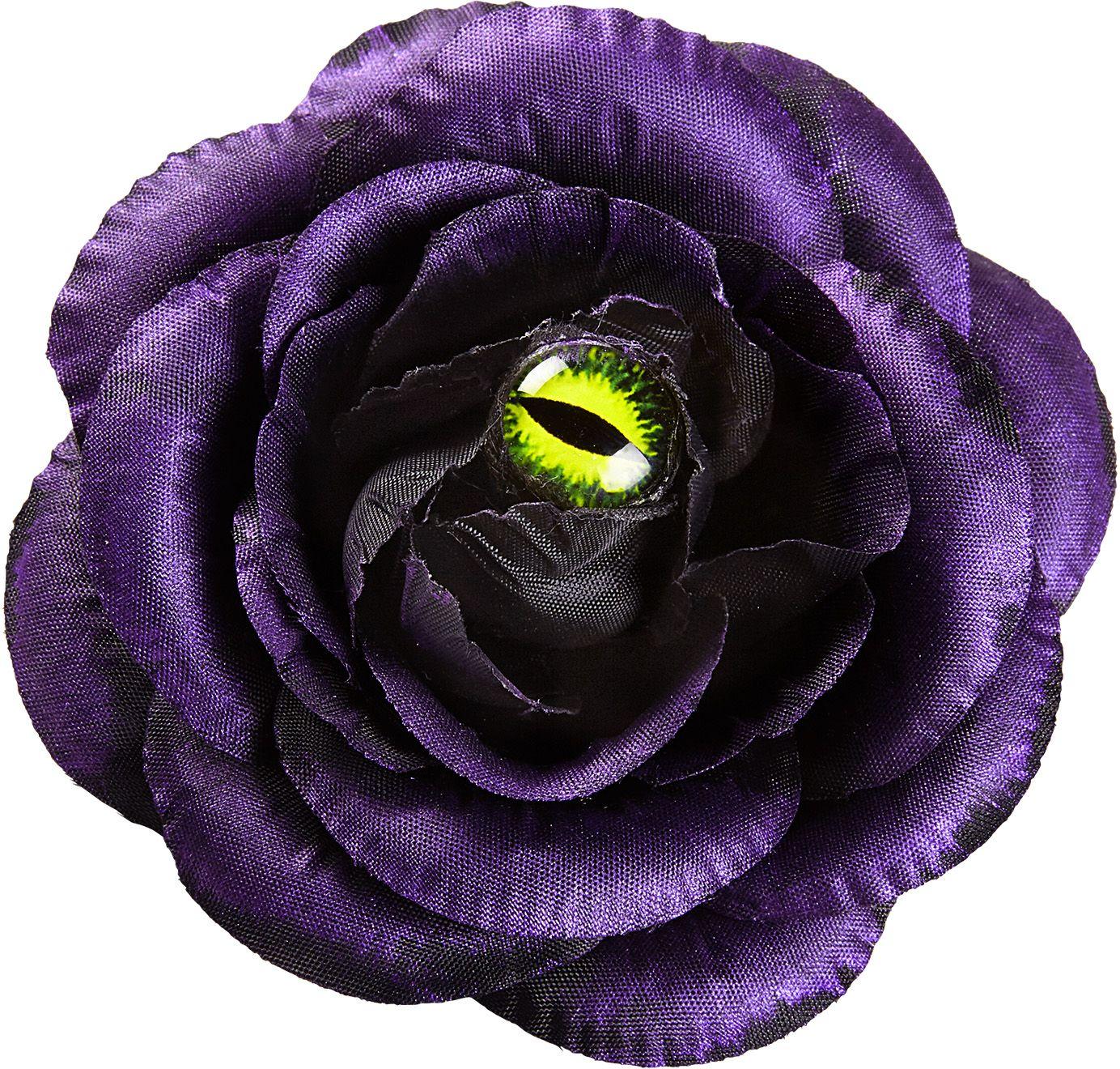 Haarclip bloem paars met oog