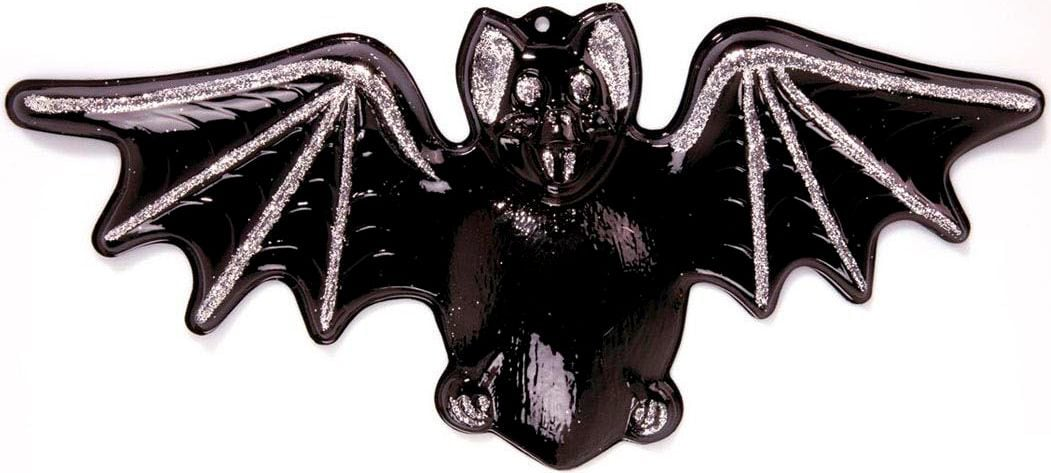 Halloween decoratie 3D glitter vleermuis