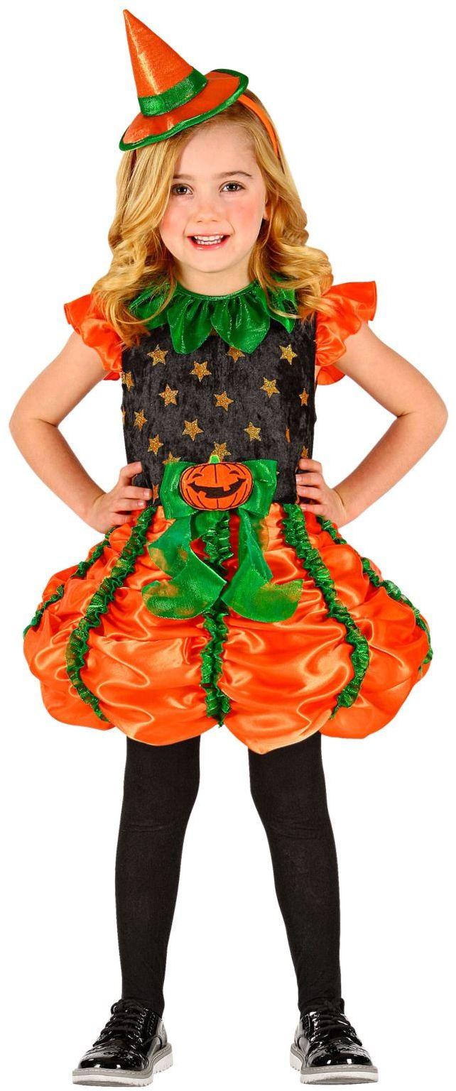 Halloween Heks pompoen jurkje