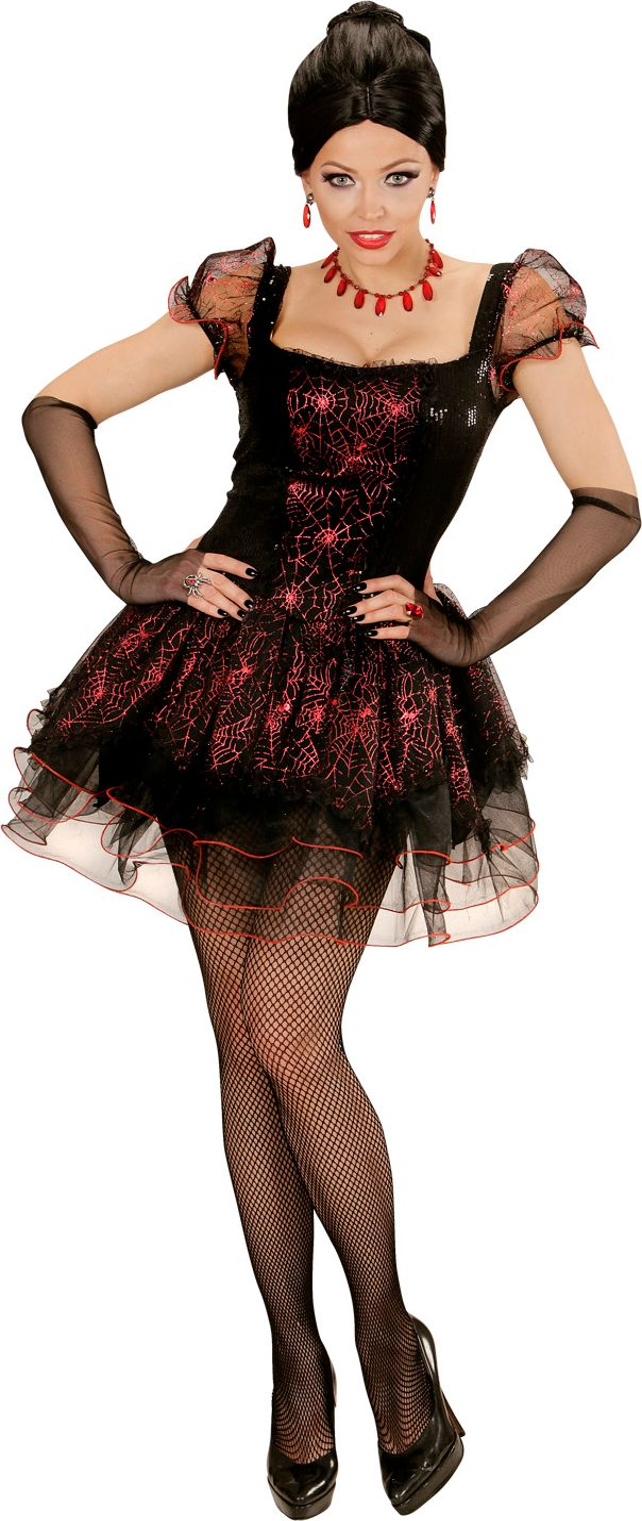 Halloween jurk spinnenweb