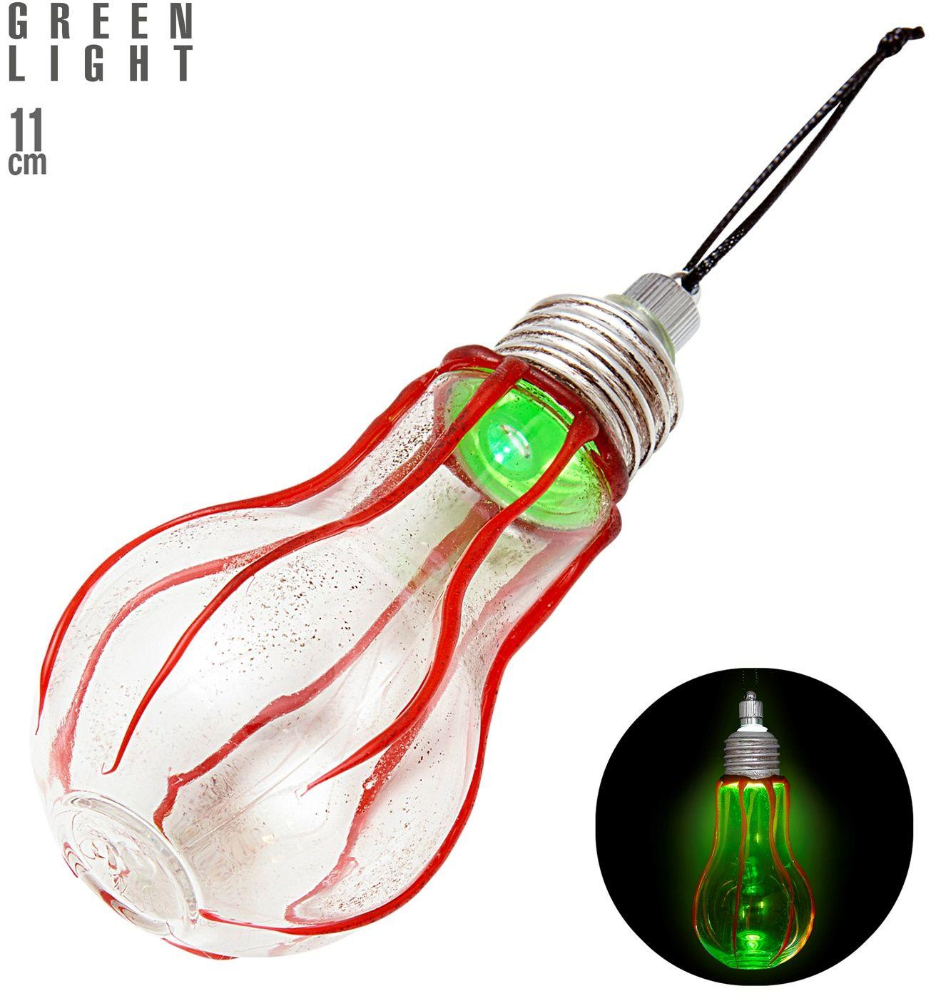 Halloween lamp met groen licht