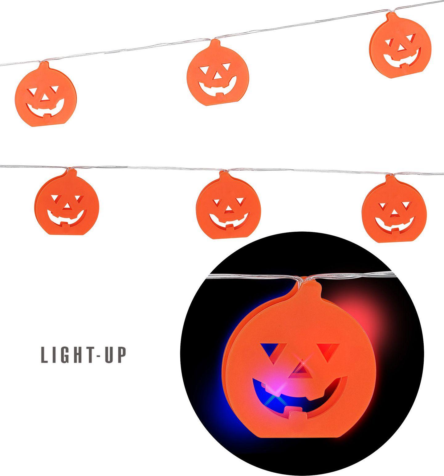 Halloween meerkleurige verlichting pompoen