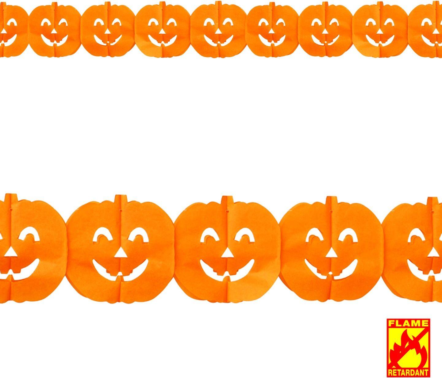 Halloween pompoen guirlande