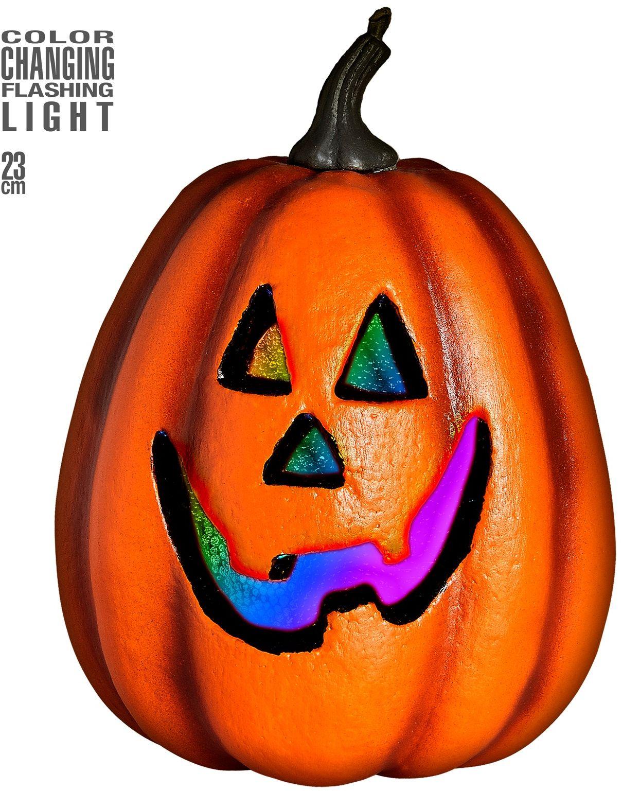 Halloween pompoen met licht