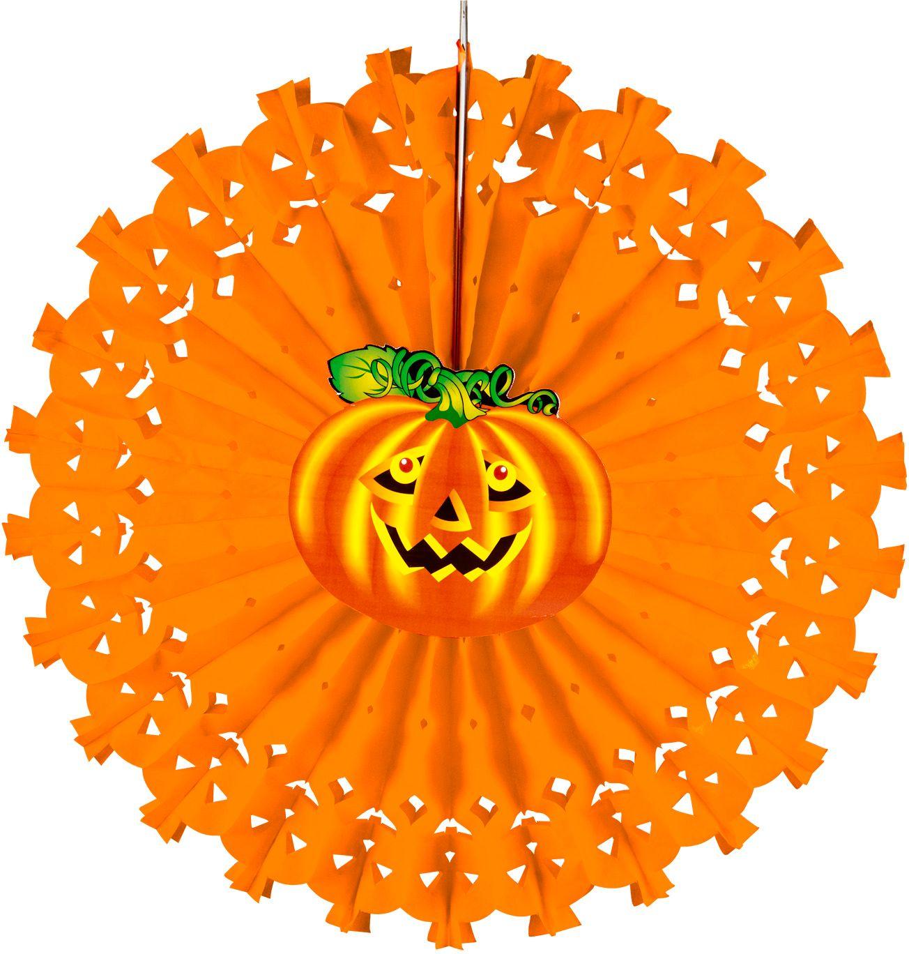 Halloween pompoen waaier