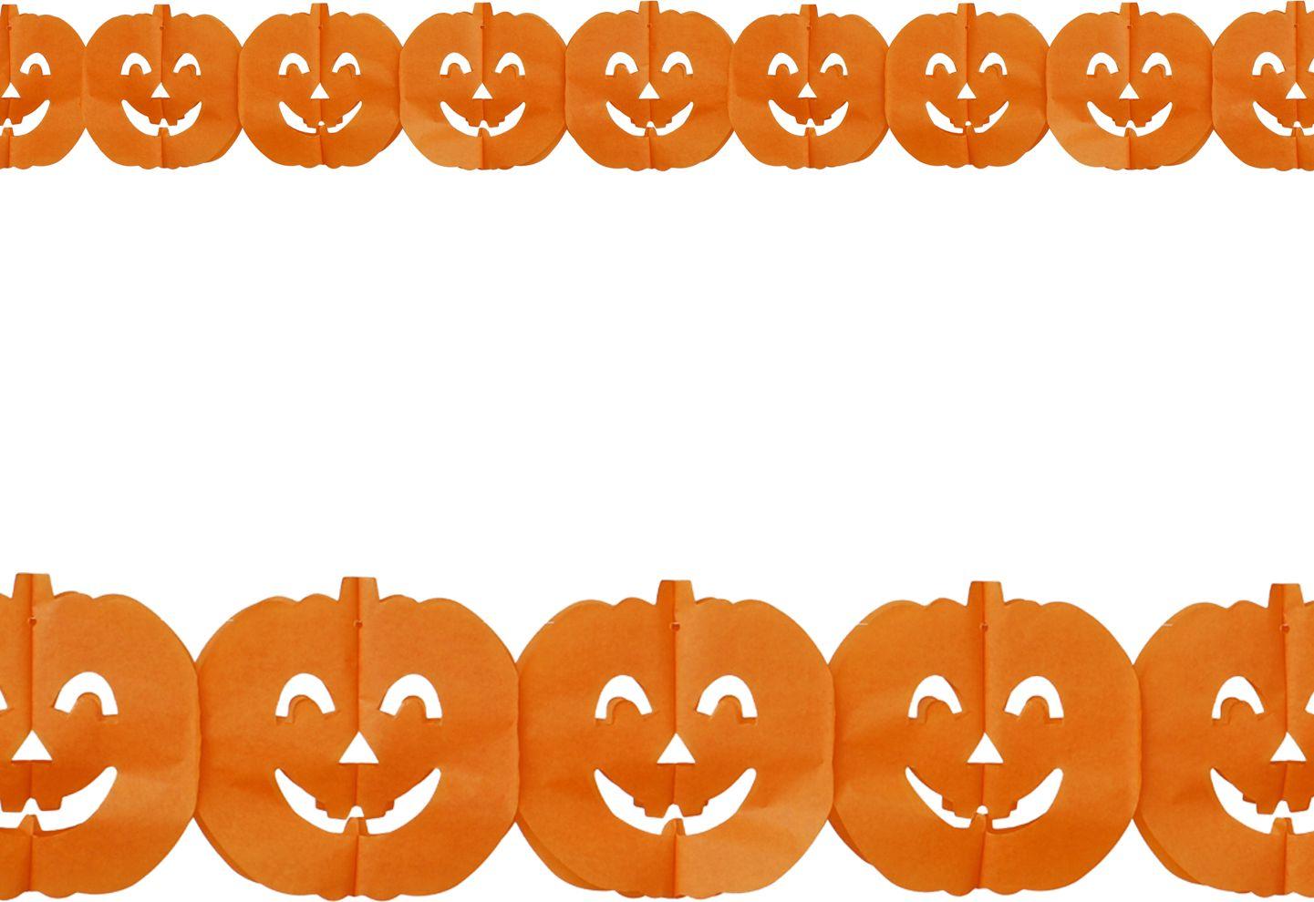 Halloween pompoenen guirlande