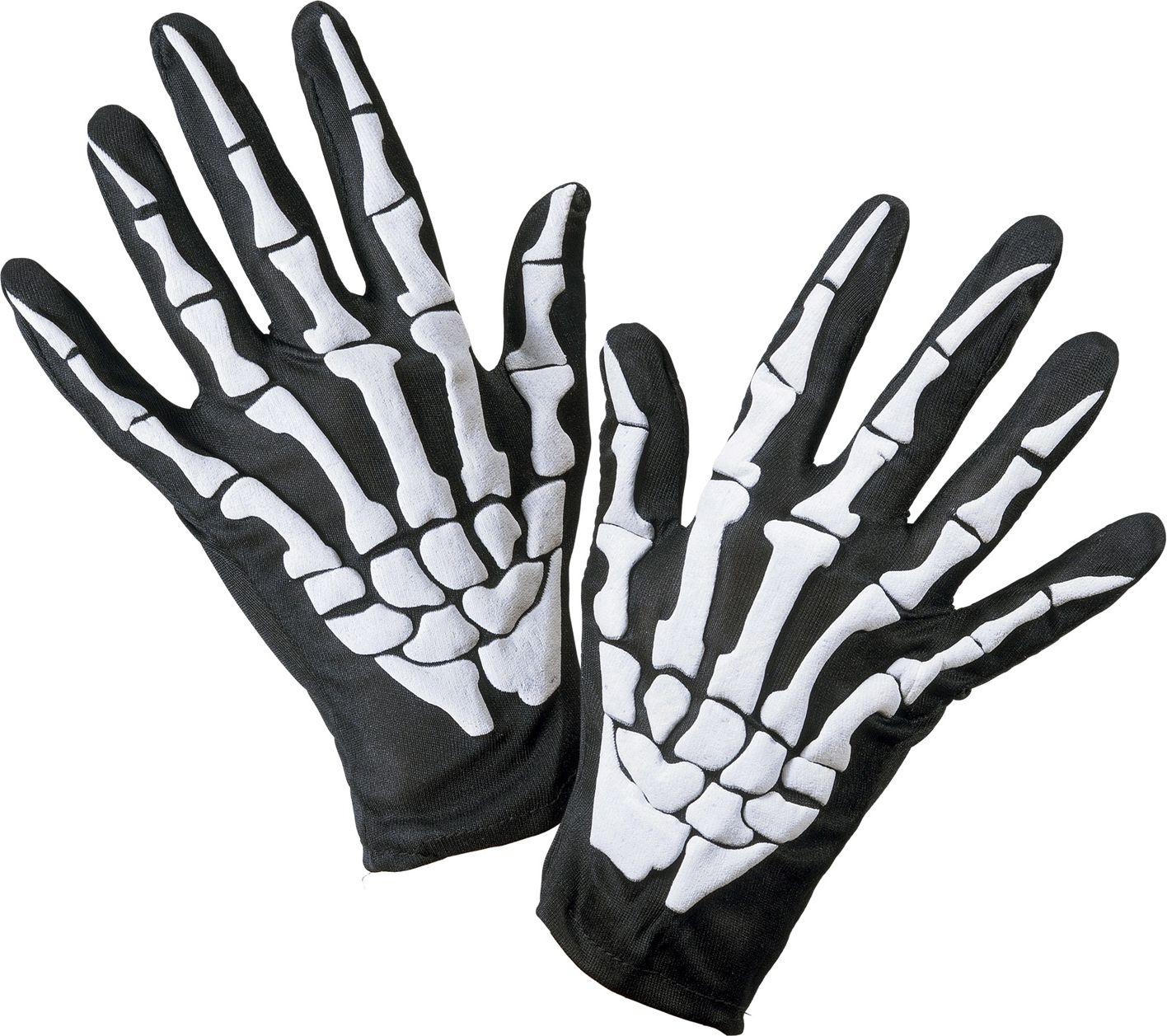 Halloween skelet handschoenen