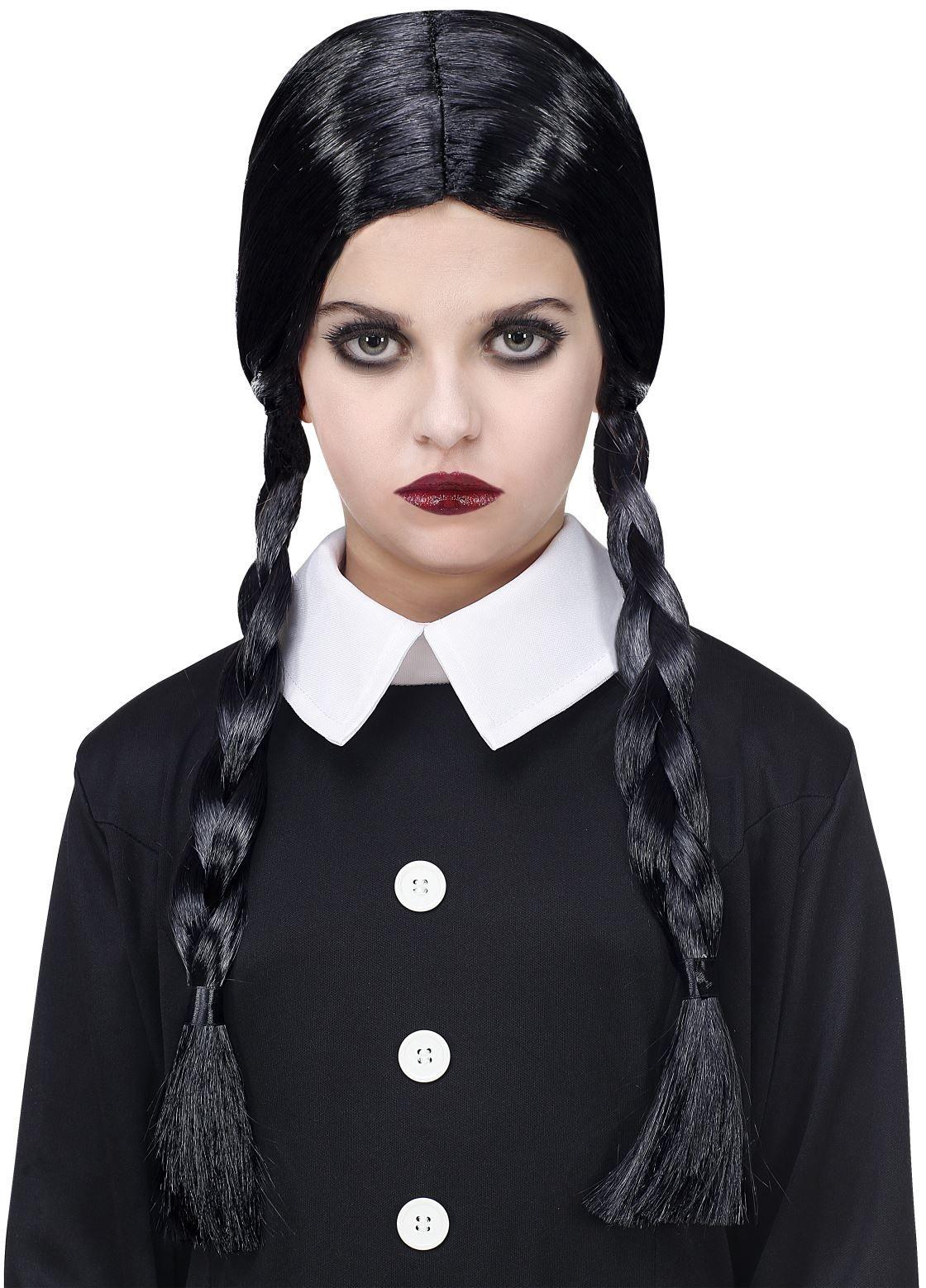 Halloween vampier pruik zwart meisjes