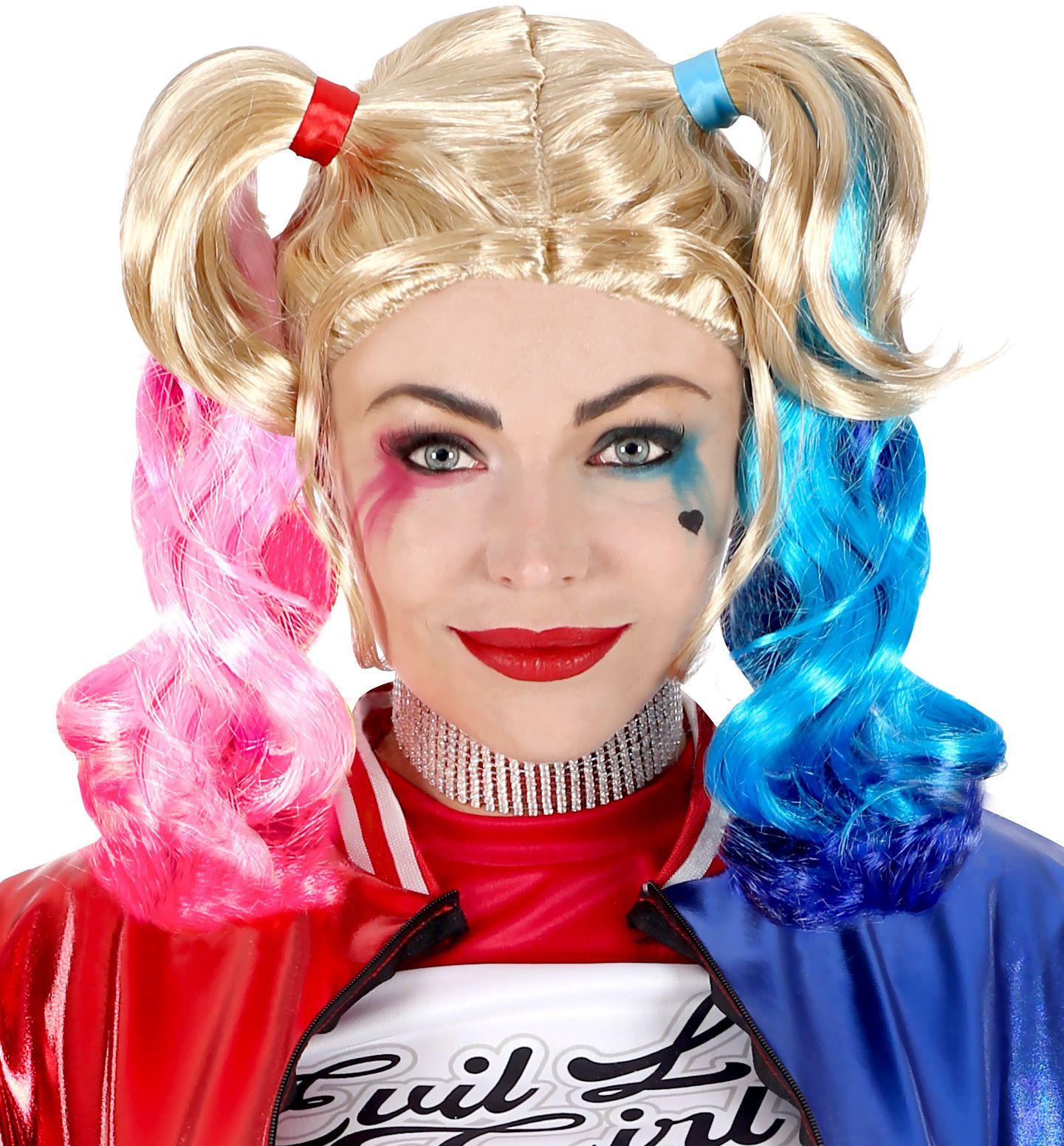 Harley Quinn pruik dames