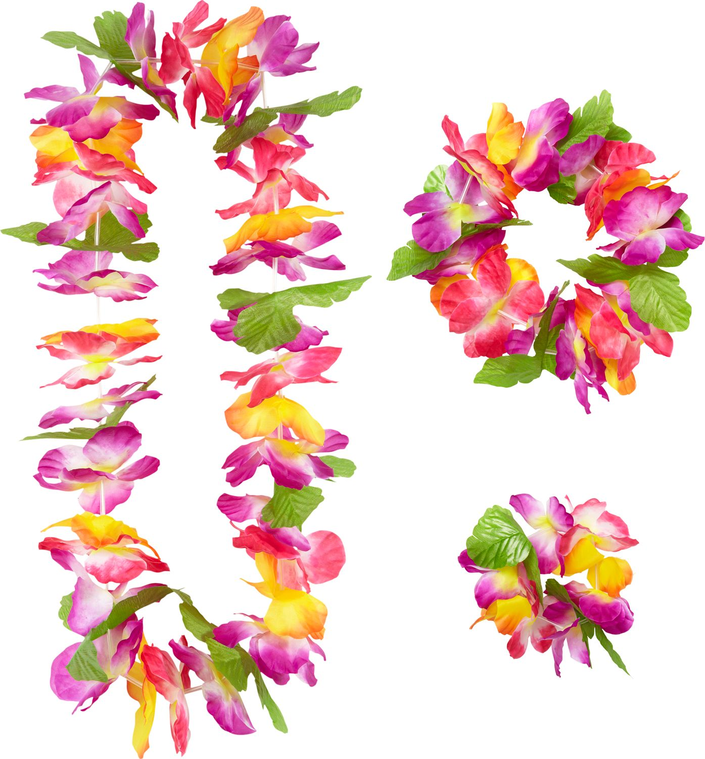 Hawaii bloemen krans set